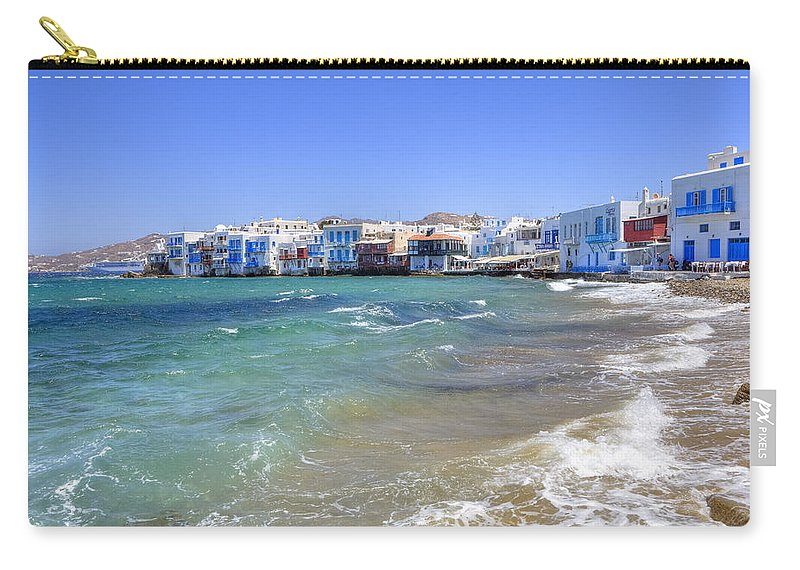 Mikri Venetia Carry-all Pouch featuring the photograph Mykonos by Joana Kruse