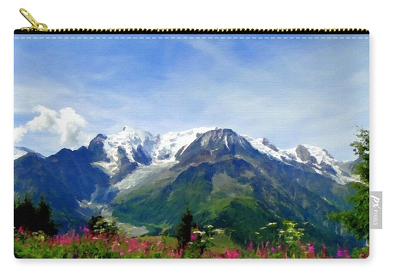 Art Carry-all Pouch featuring the digital art R F Landscape by Usa Map