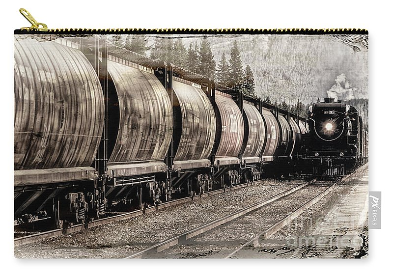 Alberta Carry-all Pouch featuring the photograph 2816 Empress Passing Grain by Brad Allen Fine Art