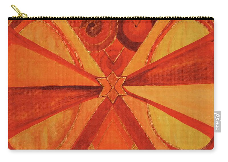Mandala Carry-all Pouch featuring the painting 2nd Mandala - Sacral Chakra by Jennifer Christenson