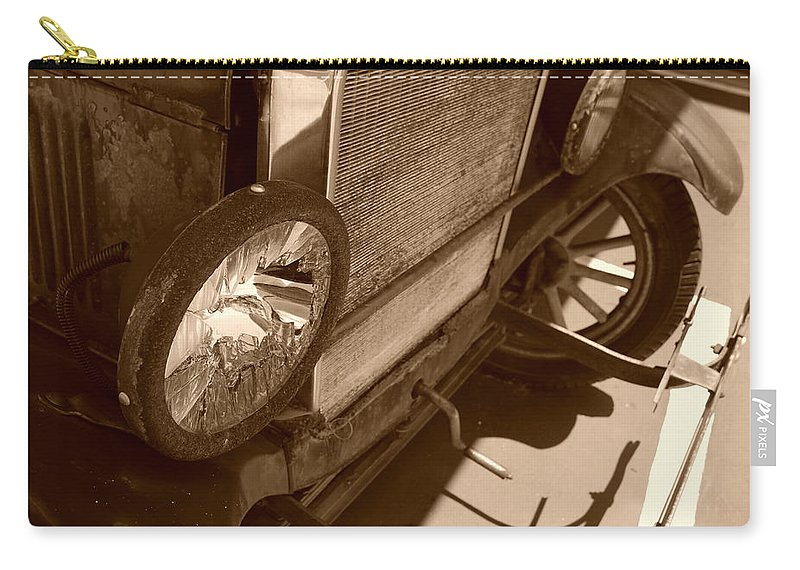 Sepia Carry-all Pouch featuring the photograph 1926 Model T Ford by Rob Hans