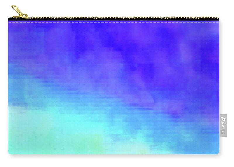 Walter Paul Bebirian Carry-all Pouch featuring the digital art 3-23-2015babcdefghijklmnopq by Walter Paul Bebirian