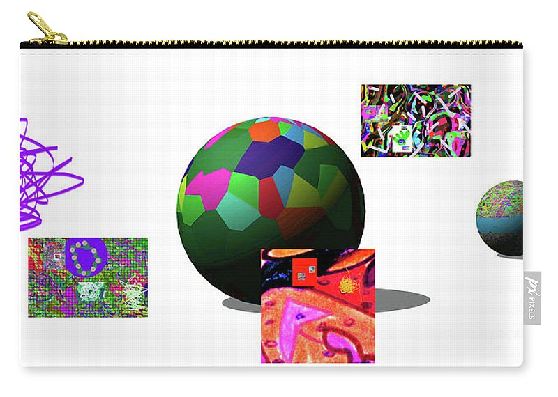Walter Paul Bebirian Carry-all Pouch featuring the digital art 3-23-2015dab by Walter Paul Bebirian