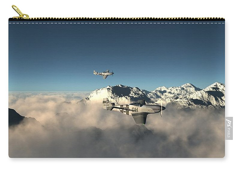 Aircraft Carry-all Pouch featuring the digital art Aircraft by Dorothy Binder