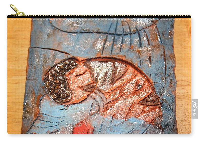 Jesus Carry-all Pouch featuring the ceramic art Akaweese - Tile by Gloria Ssali