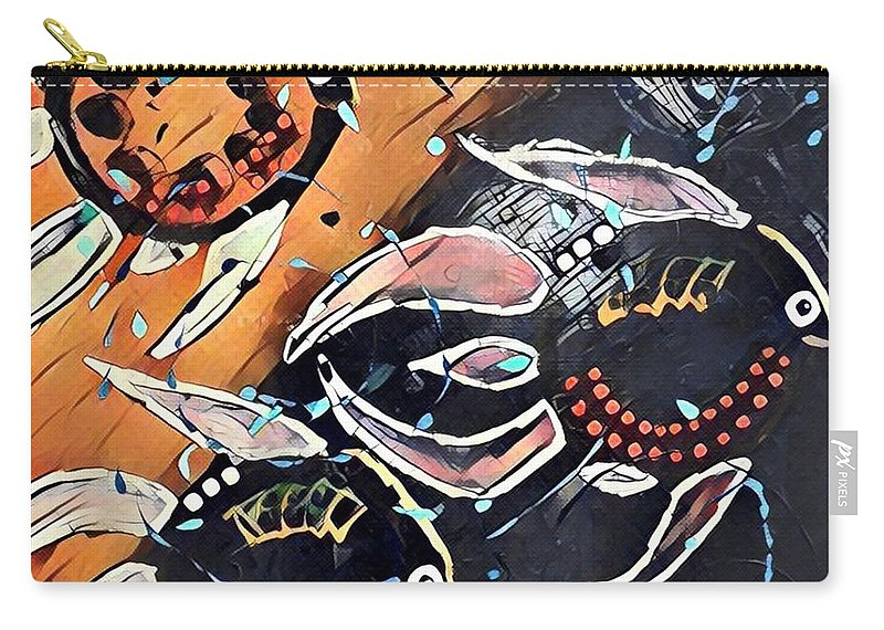 Carry-all Pouch featuring the digital art Angelfish by Melinda Sullivan Image and Design