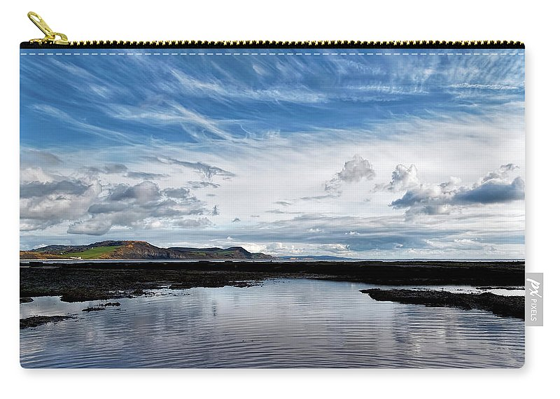 Lyme-regis Carry-all Pouch featuring the photograph Back Beach 2 - Lyme Regis by Susie Peek