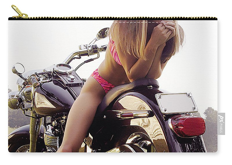 Carry-all Pouch featuring the photograph Bikes And Babes by Clayton Bruster