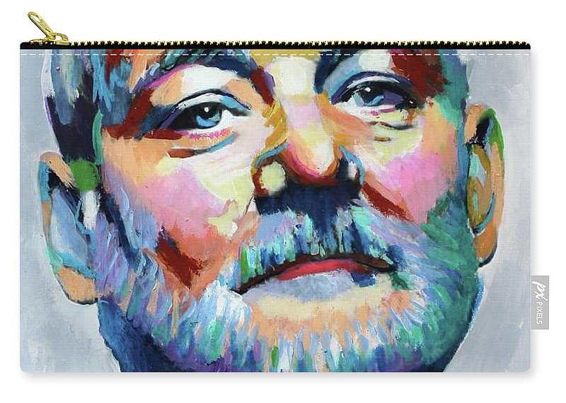 Bill Murray Carry-all Pouch featuring the painting Bill Murray by Venus