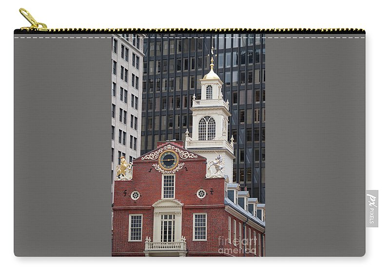 Boston Carry-all Pouch featuring the photograph Boston Old State House by Michelle Himes