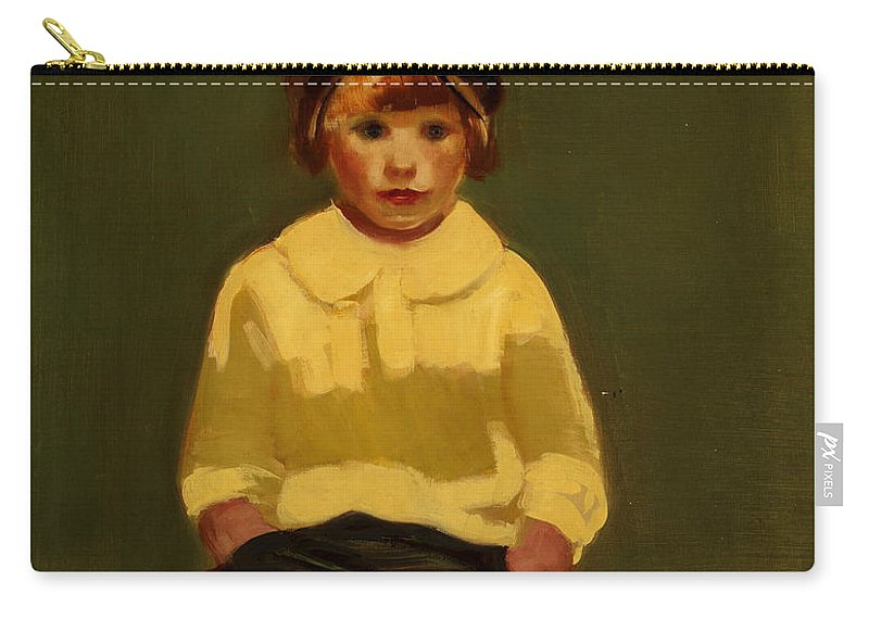 George Luks Carry-all Pouch featuring the painting Boy With Baseball by George Luks