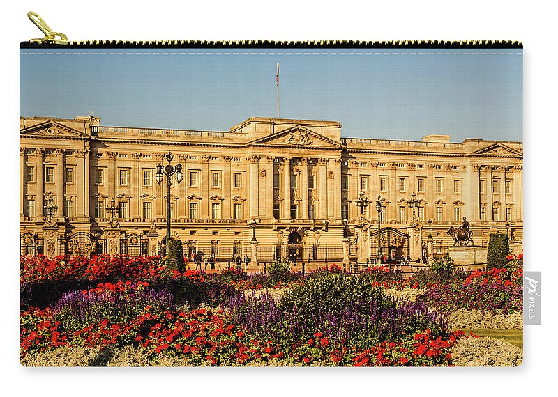 London Carry-all Pouch featuring the photograph Buckingham Palace, London, Uk. by Nigel Dudson