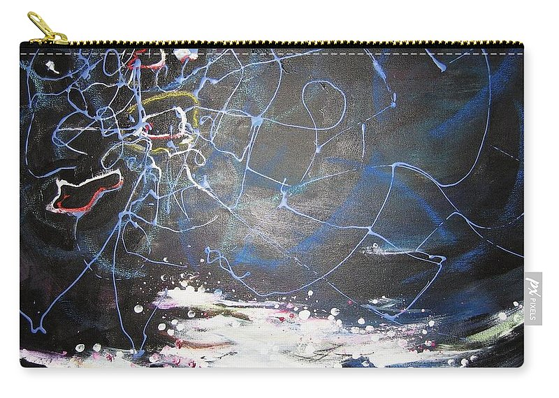 Abstract Paintings Carry-all Pouch featuring the painting Buckwheat Field by Seon-Jeong Kim