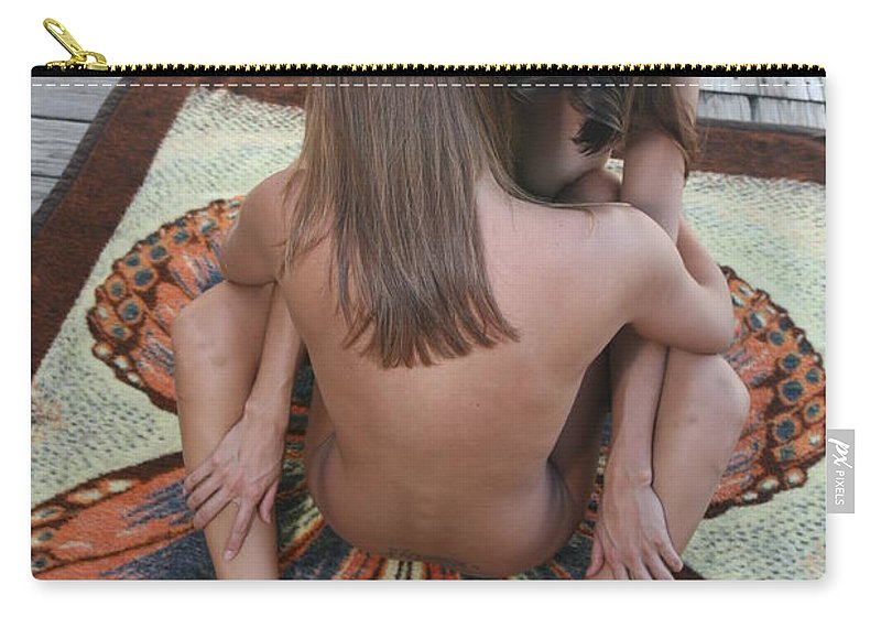 Glamorous Nudes Natural Settings Carry-all Pouch featuring the photograph Butterfly by Lucky Cole
