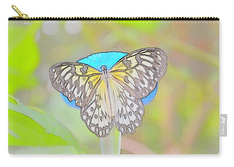 Butterfly Carry-all Pouch featuring the digital art Butterfly by Robert Nelson