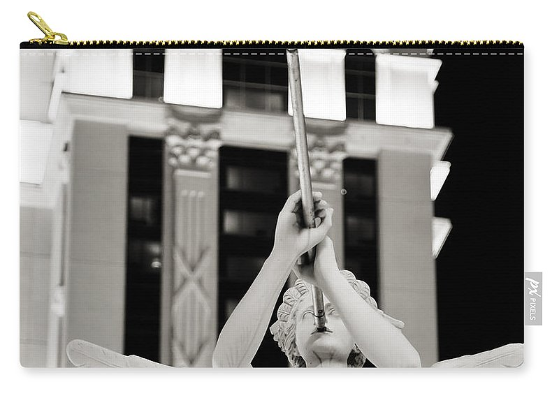 Las Carry-all Pouch featuring the photograph Caesars Palace by Ricky Barnard