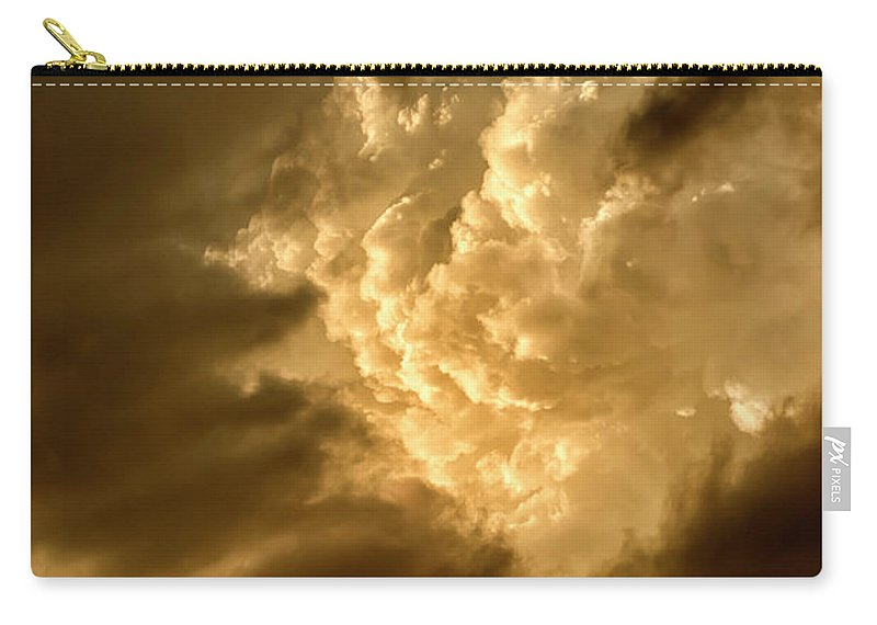 Clouds Carry-all Pouch featuring the photograph Clouds At Sunset by Thomas R Fletcher