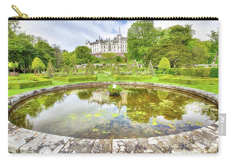Dunrobin Castle Carry-all Pouch featuring the photograph Dunrobin Castle Reflected by Benny Marty