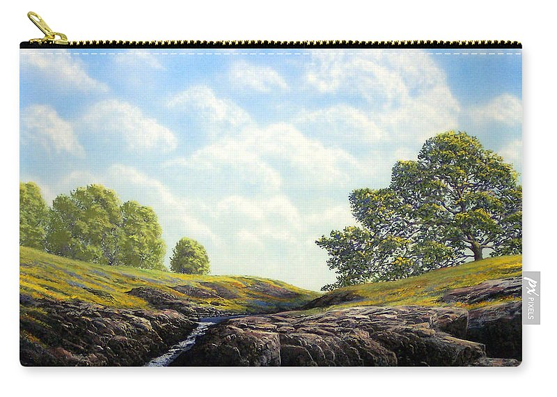 Landscape Carry-all Pouch featuring the painting Flowering Meadow by Frank Wilson