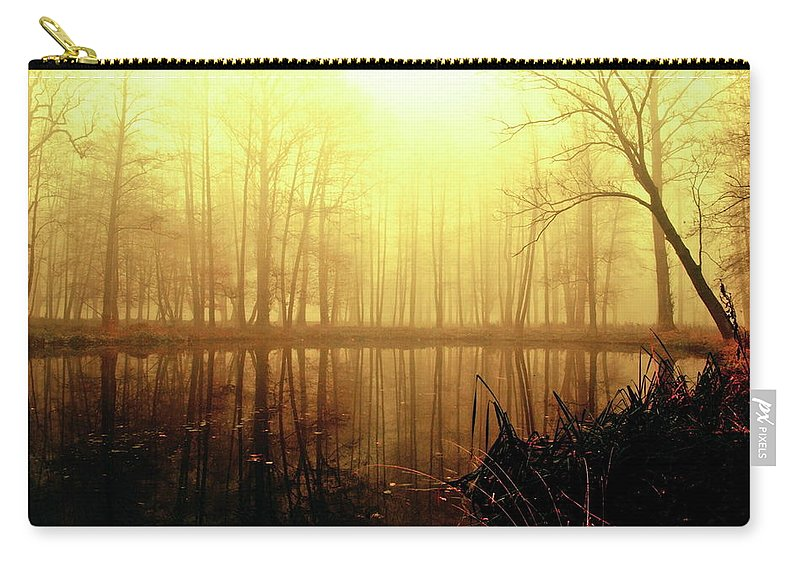 Forest Carry-all Pouch featuring the digital art Forest by Dorothy Binder
