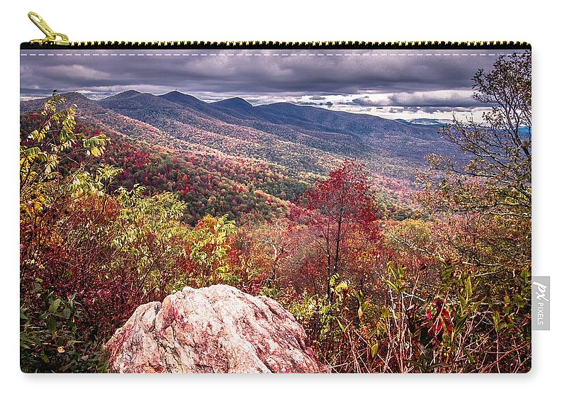 Autumn Carry-all Pouch featuring the photograph Graveyard Fields Overlook In The Smoky Mountains In North Caroli by Alex Grichenko