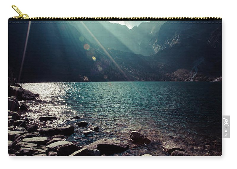Oko Carry-all Pouch featuring the photograph Green Water Mountain Lake Morskie Oko, Tatra Mountains, Poland by Mariusz Prusaczyk