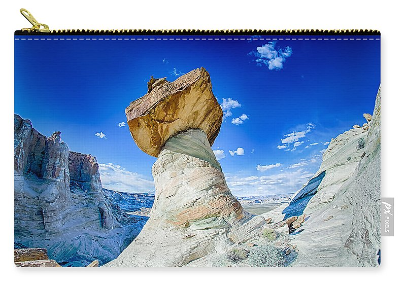 Hill Carry-all Pouch featuring the photograph Hoodoos At Stud Horse Point In Arizona by Alex Grichenko