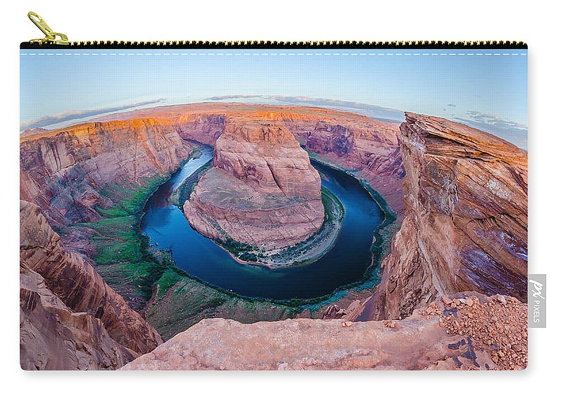 Bend Carry-all Pouch featuring the photograph Horseshoe Bend Near Page Arizona by Alex Grichenko