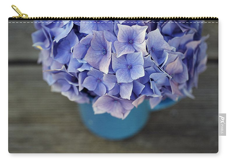 Hortensia Carry-all Pouch featuring the photograph Hortensia Flowers by Nailia Schwarz