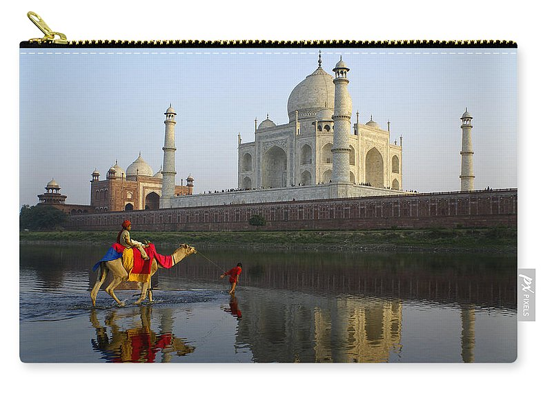 Taj Mahal Carry-all Pouch featuring the photograph India's Taj Mahal by Michele Burgess
