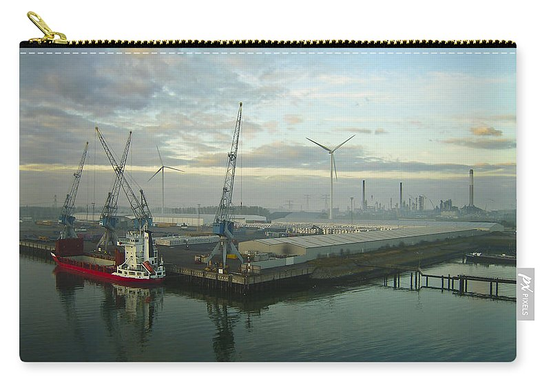 Aqua Carry-all Pouch featuring the photograph Industrial by Svetlana Sewell