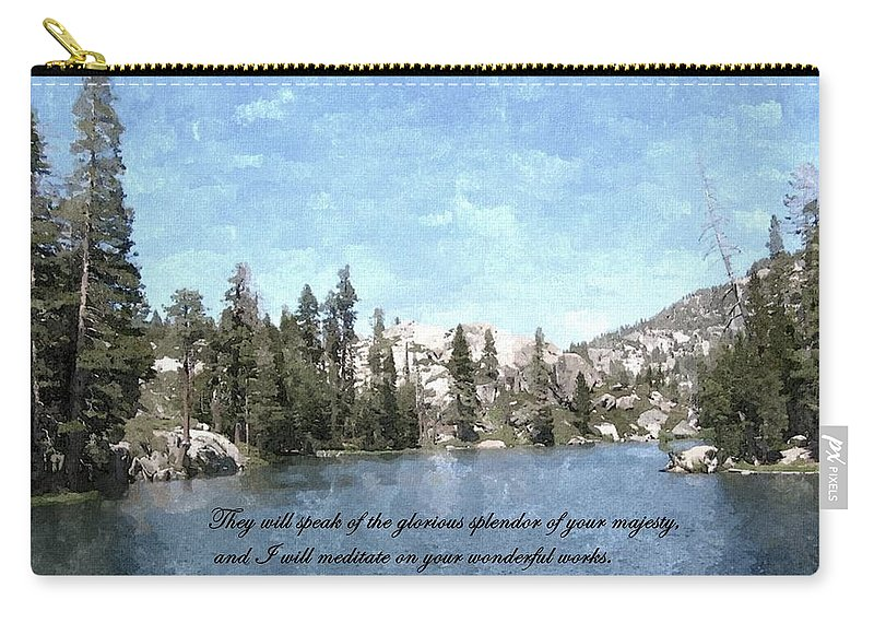 Scripture Carry-all Pouch featuring the photograph Inspirations 1 by Sara Raber