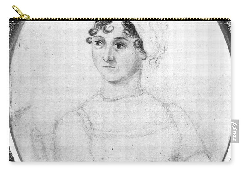 1810 Carry-all Pouch featuring the photograph Jane Austen (1775-1817) by Granger