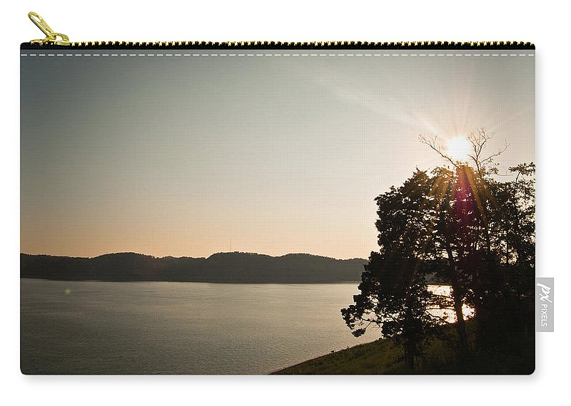 Lake Carry-all Pouch featuring the photograph Lake Cumberland Sunset by Amber Flowers