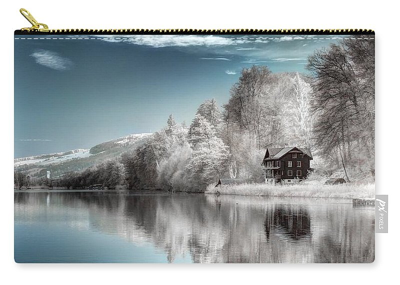 Lake Carry-all Pouch featuring the digital art Lake by Dorothy Binder