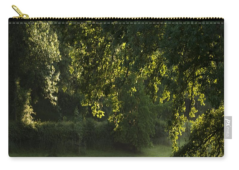 Sheep Carry-all Pouch featuring the photograph Lazy Afternoon by Angel Ciesniarska