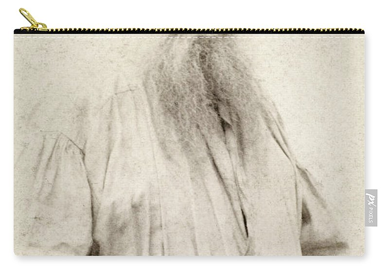 19th Century Carry-all Pouch featuring the photograph Leo Tolstoy (1828-1910) by Granger