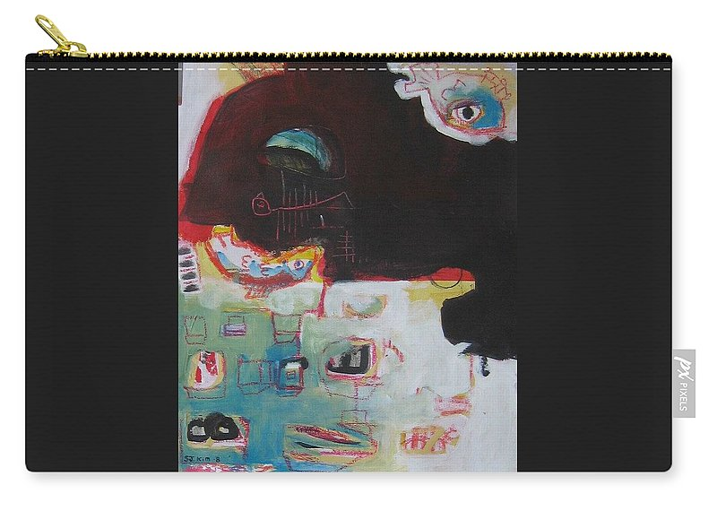 Abstract Paintings Carry-all Pouch featuring the painting Little Bay by Seon-Jeong Kim