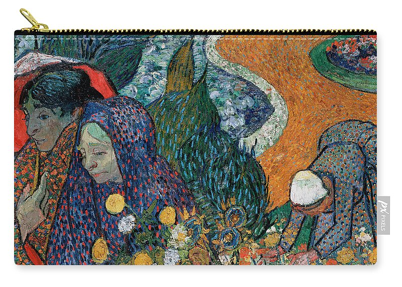 Vincent Van Gogh Carry-all Pouch featuring the painting Memory Of The Garden At Etten by Vincent Van Gogh