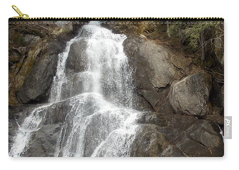 Moss Glen Falls Carry-all Pouch featuring the photograph Moss Glen Falls by Catherine Gagne