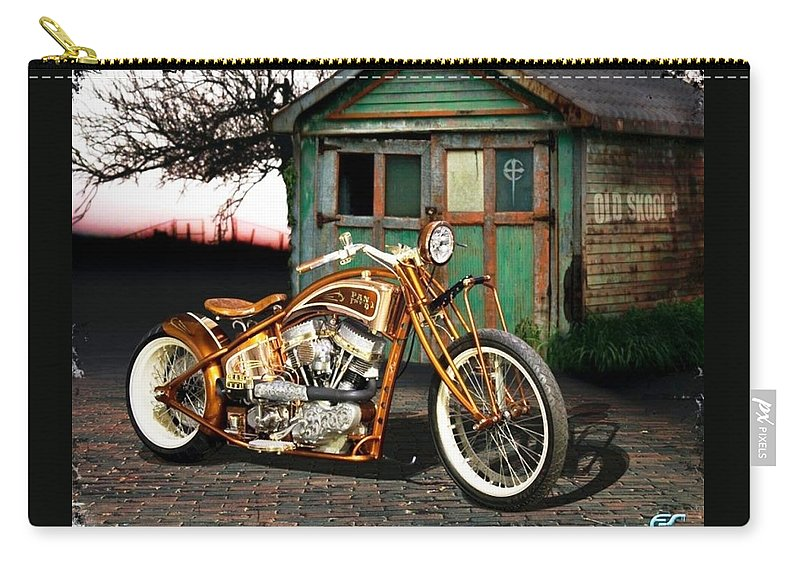 Motorcycle Carry-all Pouch featuring the photograph Motorcycle by Jackie Russo