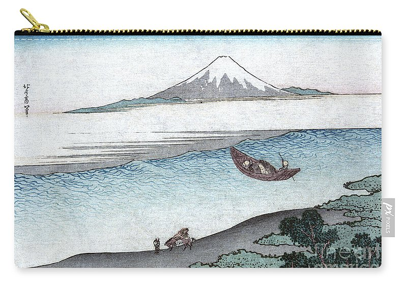 19th Century Carry-all Pouch featuring the painting Mount Fuji by Granger