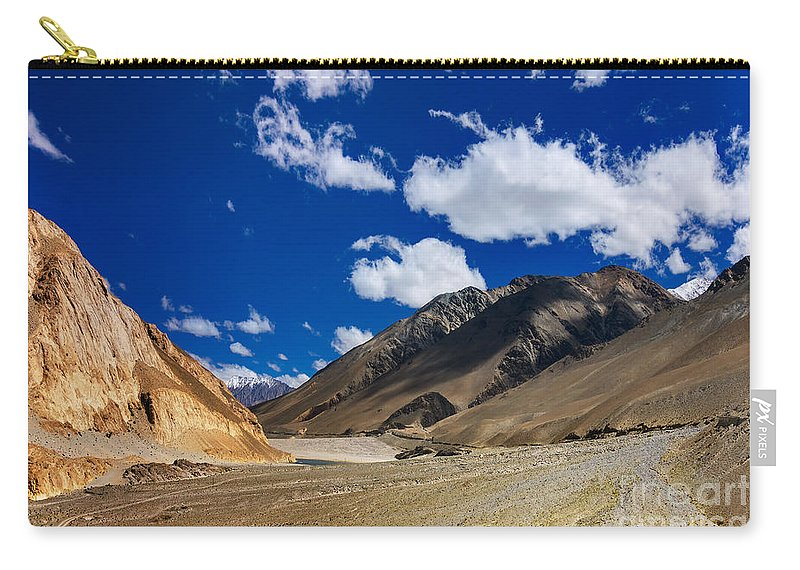 Ladakh Carry-all Pouch featuring the photograph Mountains Of Ladakh Jammu And Kashmir India by Rudra Narayan Mitra