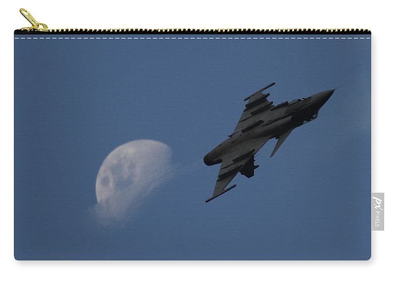 Gripen Moonlight Carry-all Pouch featuring the photograph Mr by Jarryd Sinovich