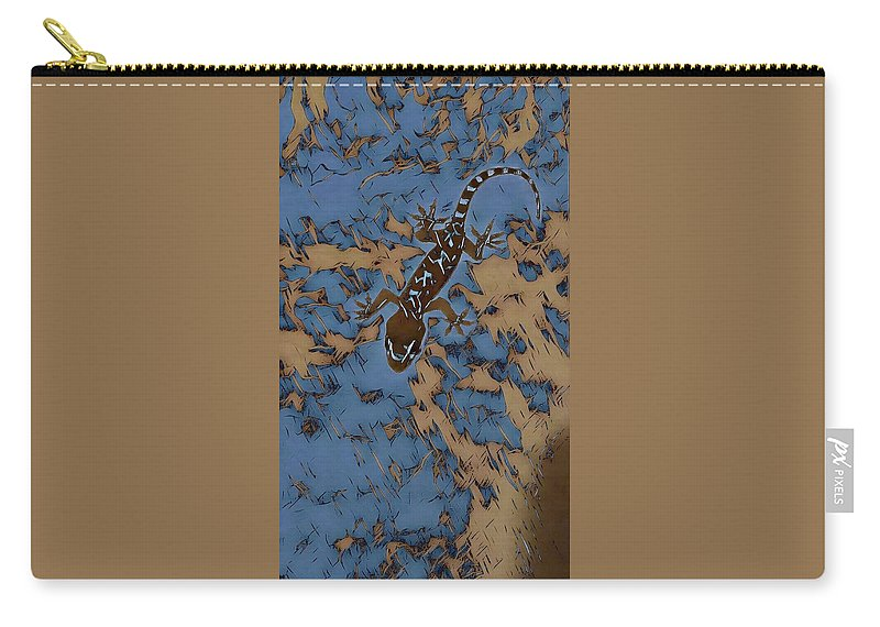Lizard Carry-all Pouch featuring the photograph Mutedesigns by Michelle Hardebeck