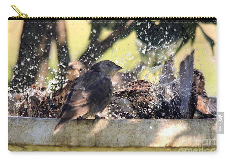Mccombie Carry-all Pouch featuring the photograph Pool Party by J McCombie