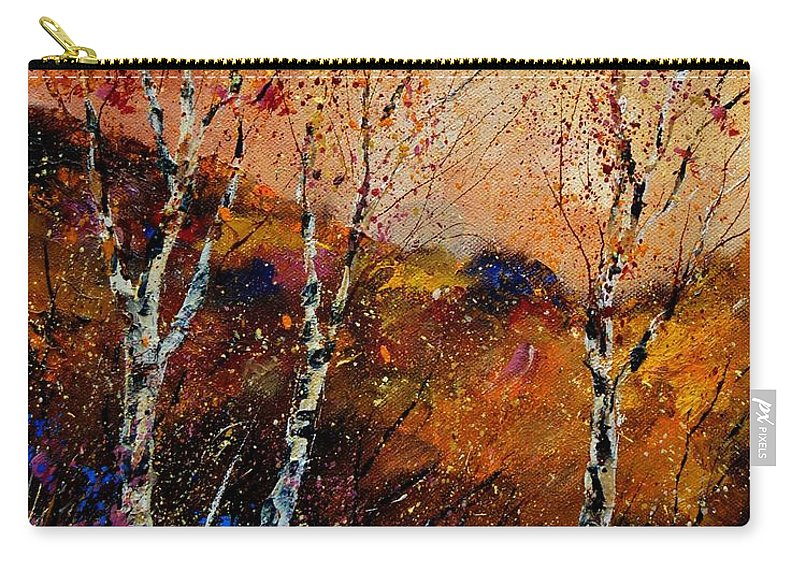 River Carry-all Pouch featuring the painting 3 Poplars by Pol Ledent