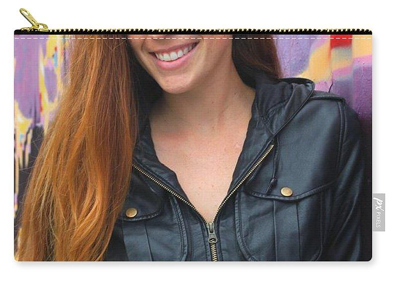 Portrait Carry-all Pouch featuring the photograph Portrait Of A Young Woman by Henrik Lehnerer