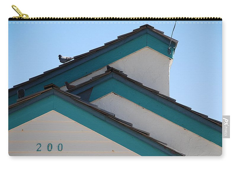 Birds Carry-all Pouch featuring the photograph 3 Roofs by Rob Hans