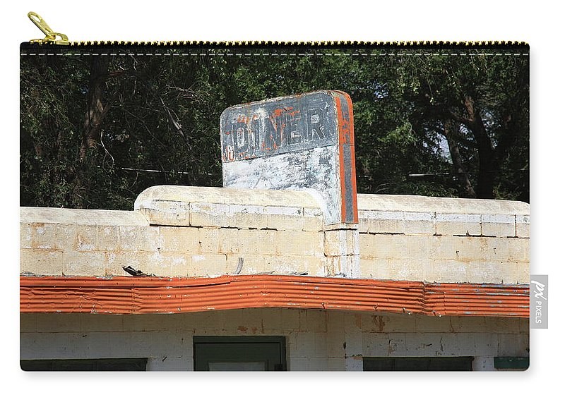66 Carry-all Pouch featuring the photograph Route 66 - Glenrio Texas by Frank Romeo